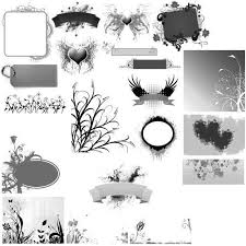 banners ornaments brushes for psp 2d resources sharecg