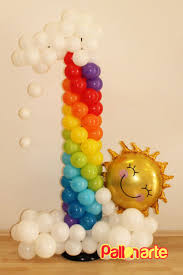Number One Rainbow Balloon Column Number One Perfect For Your Little One U0027s