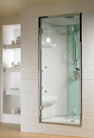steam shower cubicle glass for alcoves with hinged door