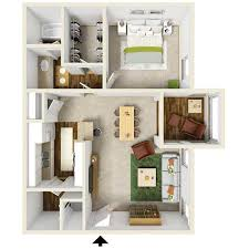 Bedroom Floor Plans Apartment Floor Plans 1 And 2 Bedroom The Summit At Dawson