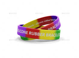 silicone rubber wristband bracelet images Silicone rubber bracelets and wristbands packaging mockup by tirapir jpg