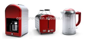 Toaster Kettle Set Kitchen Appliance With Retro Coffee Maker Toaster And Electric