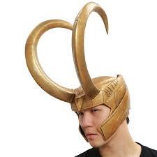 best halloween mask loki helmet marvel thor loki cosplay golden pvc full head mask