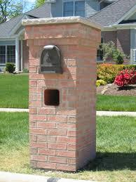 home design the stylish brick mailbox ideas regarding residence