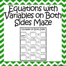 Multi Equations With Variables On Both Sides Worksheet Printables Solving Equations With Variables On Both Sides