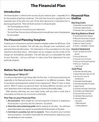 financial business plan templates 8 free u0026 premium word excel