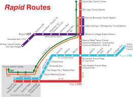 Map Of San Diego Airport by Rapid U2013 San Diego Metropolitan Transit System