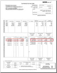 bureau workers comp experience modification ex mod correction service isu curry