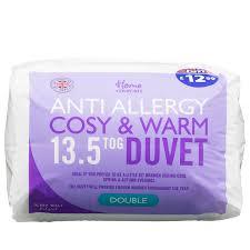 Tog In Duvet Home Comforts 13 5 Tog Anti Allergy Double Duvet Bedding B U0026m