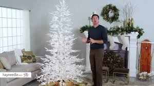 flocked white twig tree pre lit full christmas tree product