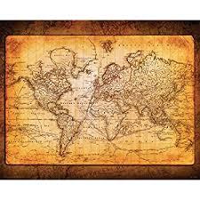 amazon com world map vintage style poster print posters u0026 prints