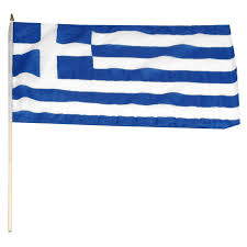 Flag With Cross And Stripes Greek Flags Flags Of Greece Country Flags