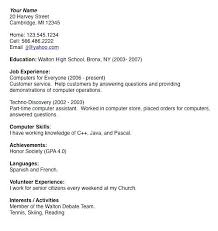 college resume exles for high school seniors sle college resume high school senior general purpose teen resume