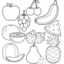 coloring book fruit printable fruits and vegetables coloring pages