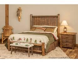 log beds rustic bedroom furniture barnwood bed woodland creek