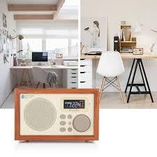 instabox wooden digital speaker bluetooth fm radio alarm clock usb