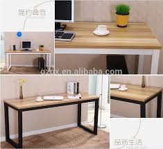 top office bureau newest office desk metal legs wood top office desks buy cheap