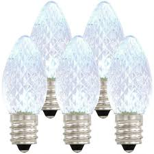 C7 Led Light Bulbs by Amazon Com Holiday Lighting Outlet Led C7 Cool White Replacement