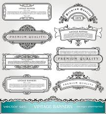 vector vintage banners borders and frames set book