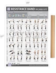 amazon com resistance band tube exercise poster now laminated