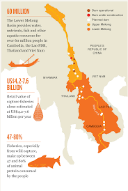 Mekong River Map Mekong Dams Could Rob Millions Of Their Primary Protein Source Wwf