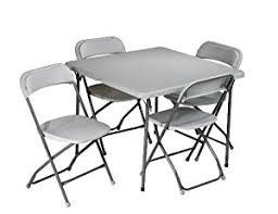Chair And Desk Amazon Com Office Star Resin 5 Piece Folding Chair And Table Set