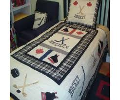 Sports Themed Comforters Bedroom Organize Your Kids Bedroom Using Cool Hockey Bedding
