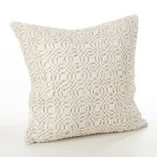 home design down pillow saro brisbane collection smocked design down filled cotton throw