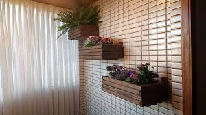diy pallet wall hanging planters