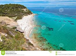 sunny beach at halkidiki greece royalty free stock photo image