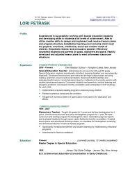 sample resume teacher aide