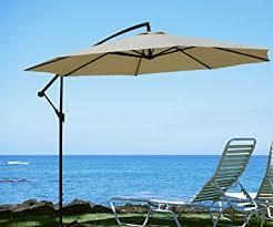 amazon com goplus 10 u0027garden patio large cantilever umbrella yard
