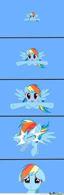 Rainbow Dash Meme - rainbow dash dilemma rainbow dash meme and pony