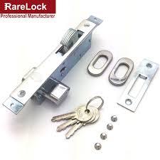 barn door lock with key handforged metal latch on barn door
