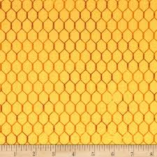 bright and early chicken wire yellow discount designer fabric