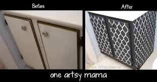 Mama Kitchen Cabinet by My First Diy Furniture Redo One Artsy Mama