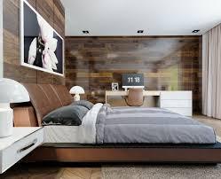 décoration mur chambre à coucher mur en bois pour une déco originale de chambre à coucher