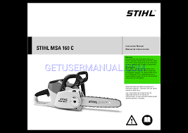 stihl chainsaws msa 160 c bq owner u0027s manual download free