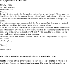 apology letter for mistake template free download speedy template