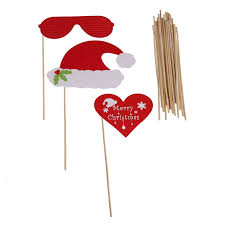 27pcs diy christmas party photo booth props mask deer mustache