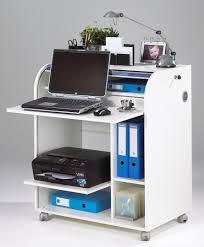 secretaire moderne bureau bureau secrétaire informatique à rideau coloris blanc dusty bureau
