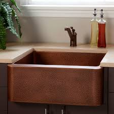 Hammered Copper Apron Front Sink by Hammered Farmhouse Sink Signature Hardware