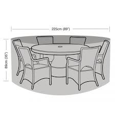 Large Patio Set Cover Protector 6 Seater Circular Patio Set Cover 225cm