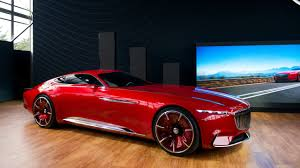 vision mercedes maybach 6 concept driven remotely at pebble beach