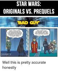 Badass Guy Meme - star wars originals vs prequels bad guy whoa darth vader wow darth