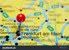 Darmstadt Germany Map by Frankfurt Main Pinned On Map Germany Stock Photo 392196637