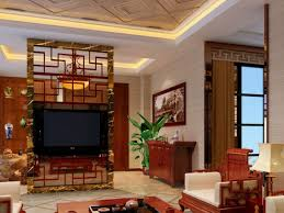 interesting wall partition for living room come with gold red
