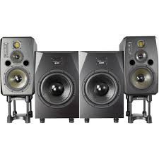professional home theater system adam professional audio the cosmo matched 2 2 speaker the cosmo