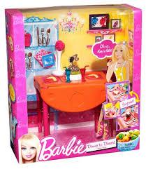 Barbie Dining Room Set | amazon com barbie dinner to dessert dining room set toys games