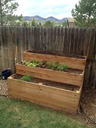 Greenes Fence Raised Beds by Tiered Raised Garden Bed Gardening Ideas